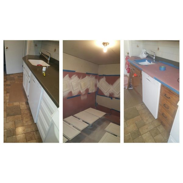Before & After Cabinet Refinishing in Milford, NJ (1)
