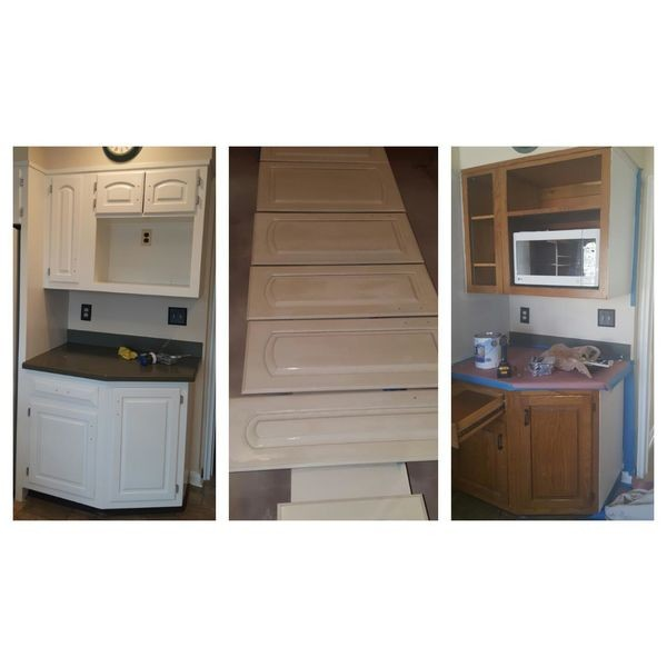 Before & After Cabinet Refinishing in New Milford, NJ (1)