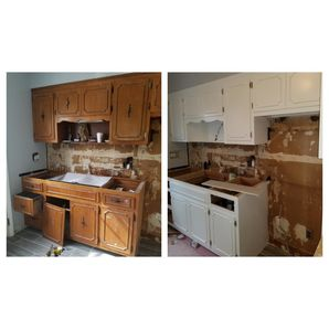 Before & After Cabinet Painting in Guttenberg, NJ (1)
