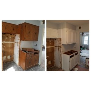 Before & After Cabinet Painting in Guttenberg, NJ (2)