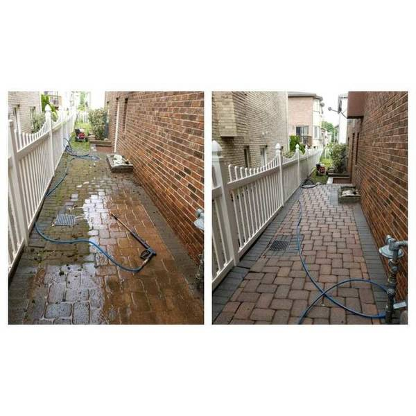 Pressure Washing Sidewalk in Guttenberg, NJ (1)
