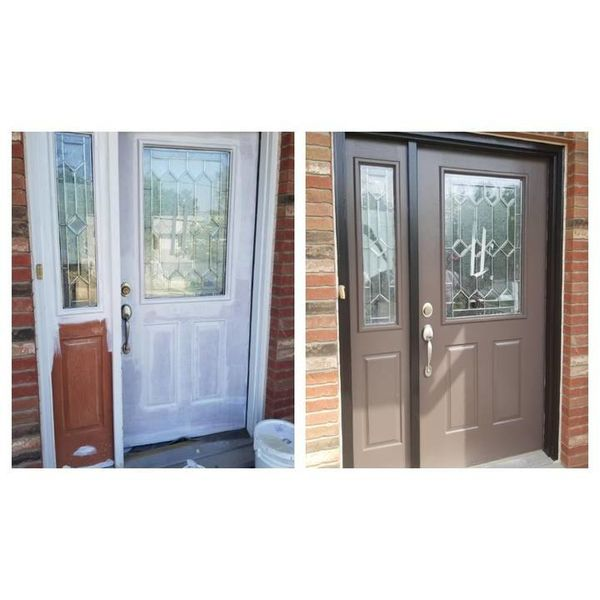 Before & After Door Painting in (1)