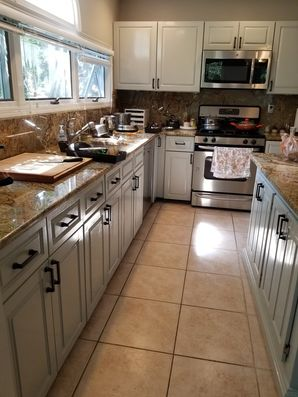 Before & After Kitchen Cabinet Painting in Guttenberg, NJ (2)