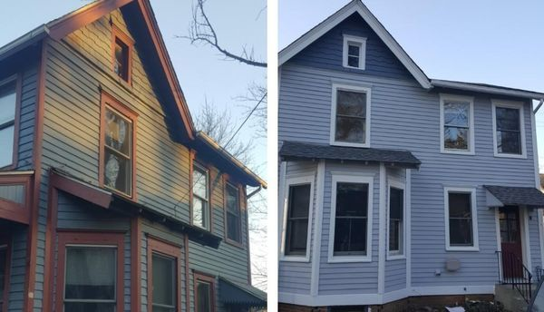 Before and After House Painting in Guttenburg, NJ (1)