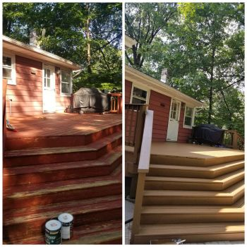 JAF Painting LLC stains decks in Guttenberg and fences