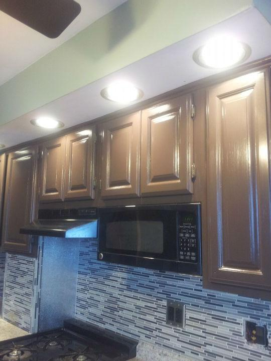 Before and After Cabinet Painting in Ridgefield, NJ
