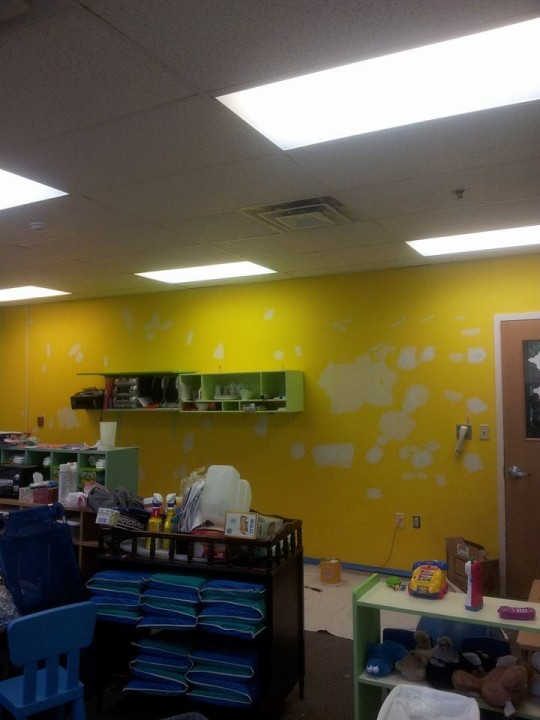 Before Interior Painting at a Daycare in Teaneck, NJ