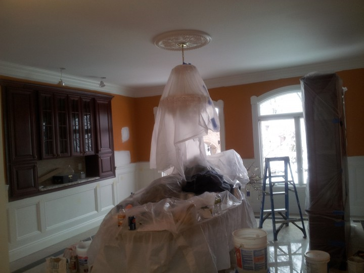 Before and After Drywall Repair and Interior Painting in Tenafly, NJ