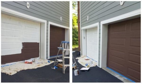 Exterior Garage Door Painting in Secaucus, NJ (1)
