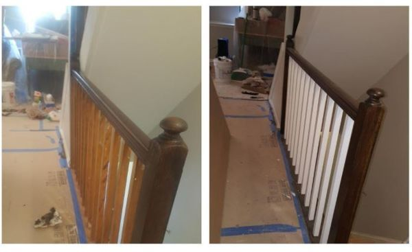 Before & After Banister Painting in North Bergen, NJ (1)