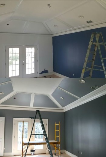 Living Room Painting in Guttenberg by JAF Painting LLC